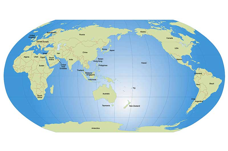Where Is Auckland New Zealand On The World Map Deboomfotografie - World map us in middle